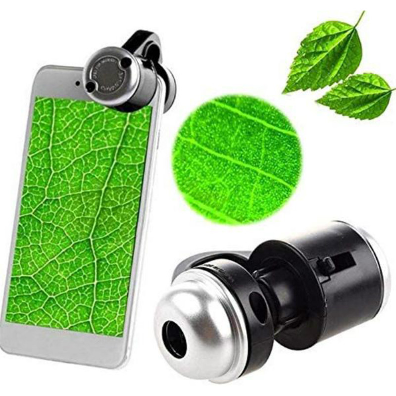 Cell Phone Microscope Led Mobile Phone 30X Clip Magnifying Glass Digital Hd Camera for Smartphone PCB Inspection Tool Black1Pc