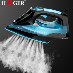HAEGER Electric Iron Household Portable Handheld Steam Iron High Power 2200w Teflon Non-Stick Soleplate Three-Speed Thermostat
