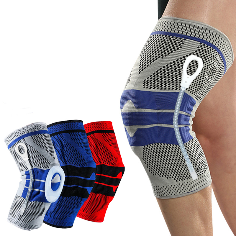 1 Piece Silicone Knee Pads Strap Knee Braces For Arthritis Knee Pads For Joints Support Meniscus Compression Protection Sport