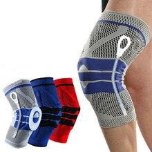 Rodilleras de silicona con tirantes para artritis de rodillas, almohadillas para articulaciones, protección de compresión, deporte, 1 unidad