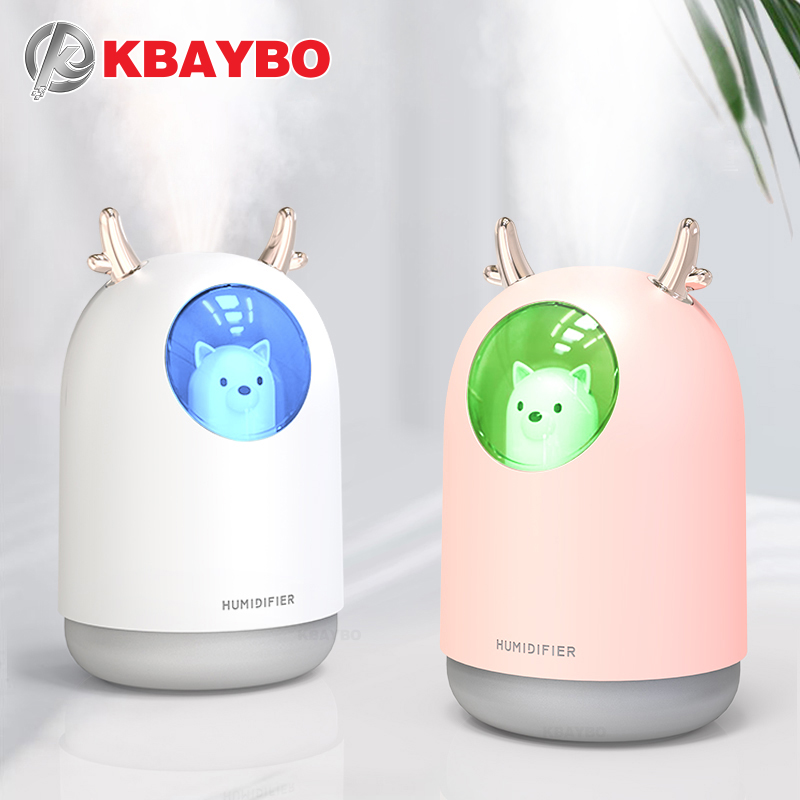 KBAYBO 300ML USB Mini Humidifiers Aromatherapy Essential Oil Diffuser Ultrasonic Air Humidifier Mist Maker Air Purifier For Home