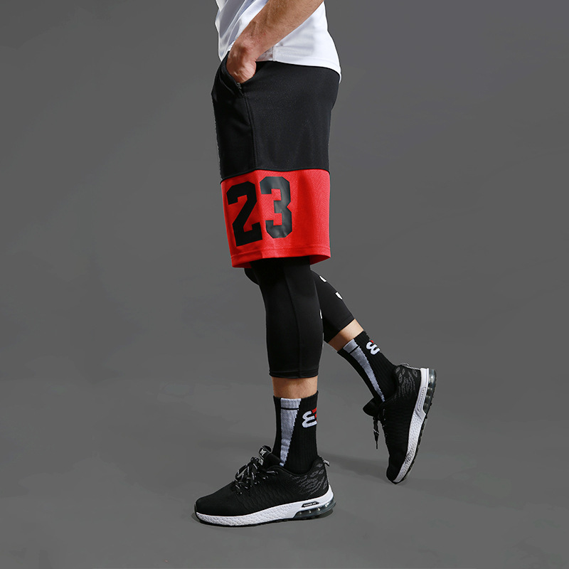 Basketball Shorts Men's Sports Shorts Over The Knee Five Shorts Large Size Loose Quick-drying Running Fitness Shorts Sweatpants