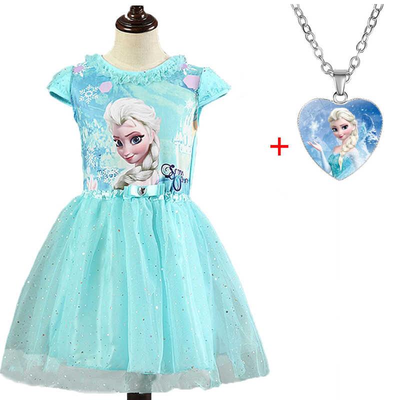 Elsa Anna 2 Dresse Set Voor Meisjes Carnaval Kostuum Kinderen Jurken Kinderen Kerst Cosplay Bithday Party Jurken