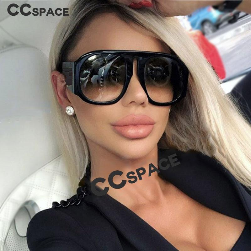 45497 Retro Oversize Sunglasses Men Women Gradient Lens Brand Glasses Designer Fashion Male Female Shades