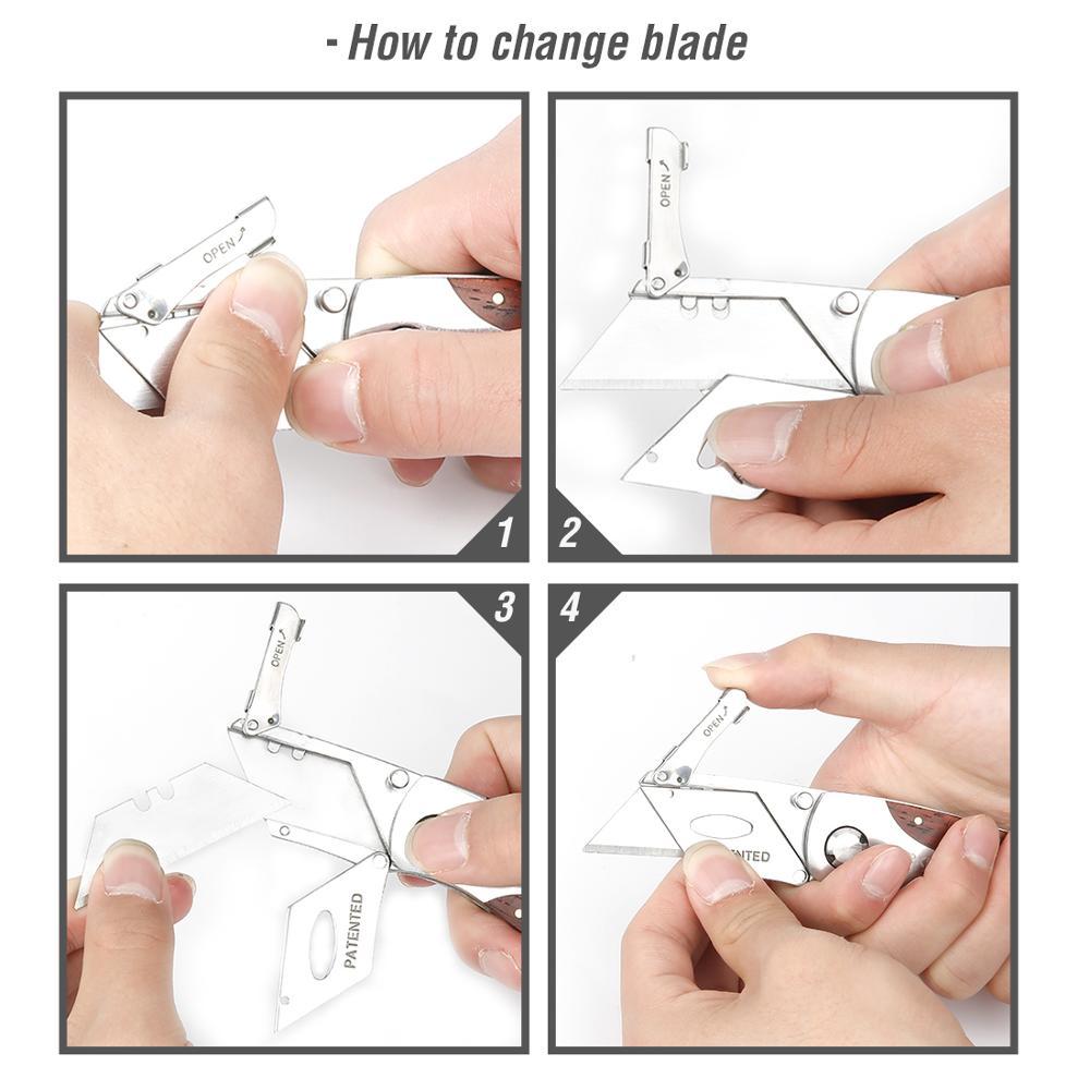 WORKPRO Összecsukható kés nehéz teherbírású kés csővágó - Kézi szerszámok - Fénykép 3