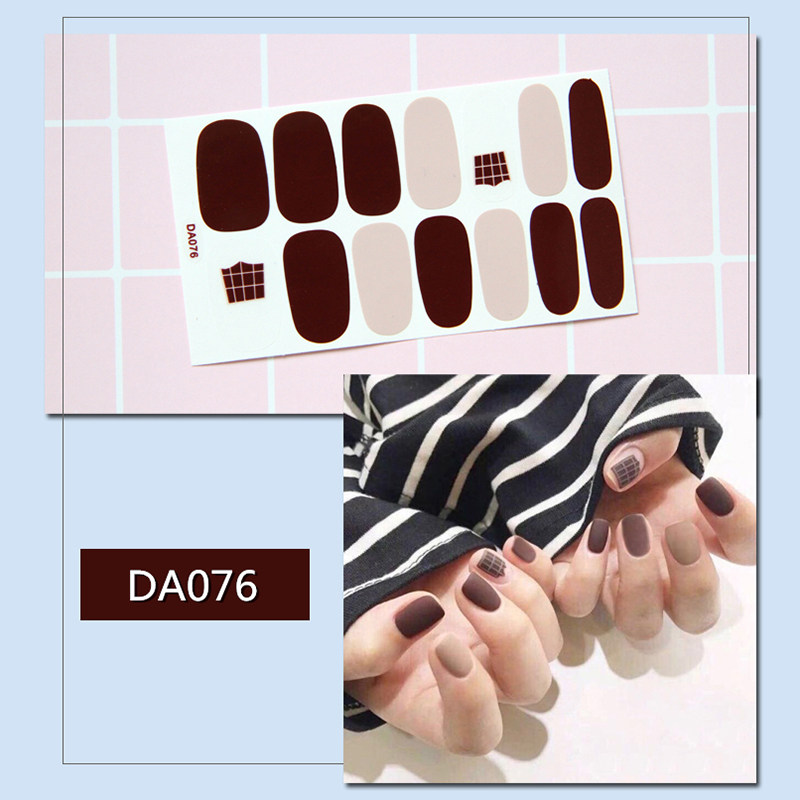 20Models Nail Stickers Waterproof Fashion Nail Wraps Nail Art Full Cover Adhesive Foil Stickers Manicure Decals