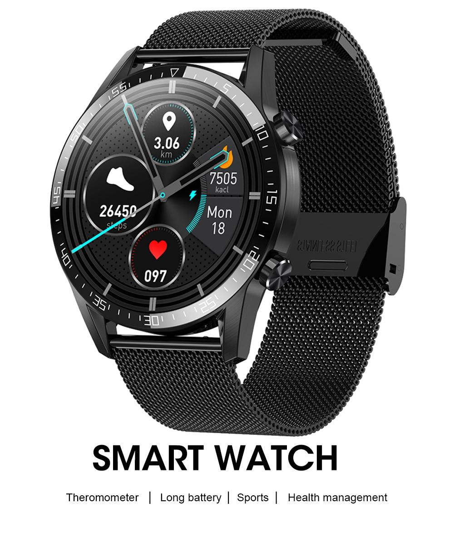 H8e1f331943a440b790e59384685edff0E IPbzhe Smart Watch Men Thermometer ECG Smart Watch IP68 Waterproof Blood Pressure Smartwatch Reloj Inteligente For Huawei Xiaomi