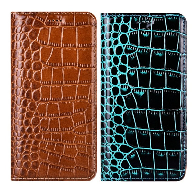 Crocodile Genuine Leather Phone Case For Samsung Galaxy A51 A71 A01 A21 A10 A20 A30 A40 A50 A60 A70 A80 A90 5G Flip Cover Coque