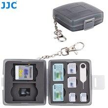 JJC SD CF TF SIM Nano SIM kart suya dayanıklı kamera hafıza kartı saklama kutusu kompakt sert kutu