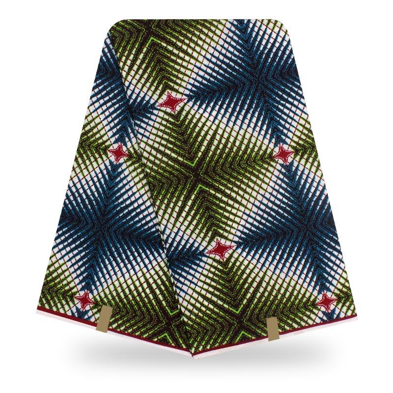 Holland New Design Ankara Fabric African Wax Print Lattice Print Fabric Kwanzaa Cloth Material 6Yards\lot
