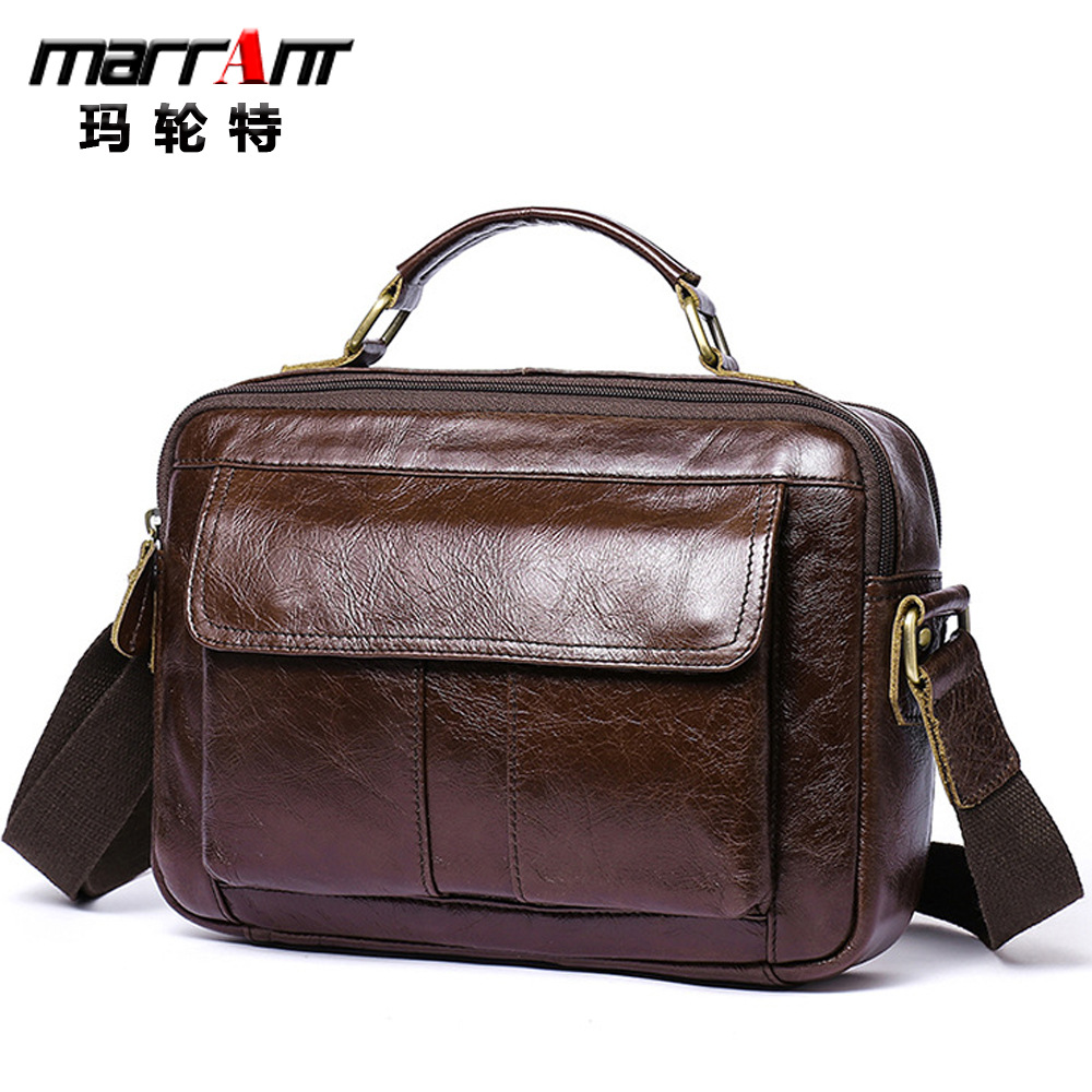 Leather Men's Bag Brand Business Men's Shoulder Handbag Fashion Leisure Men's Commuting Briefcase Messenger Bag Men Leather