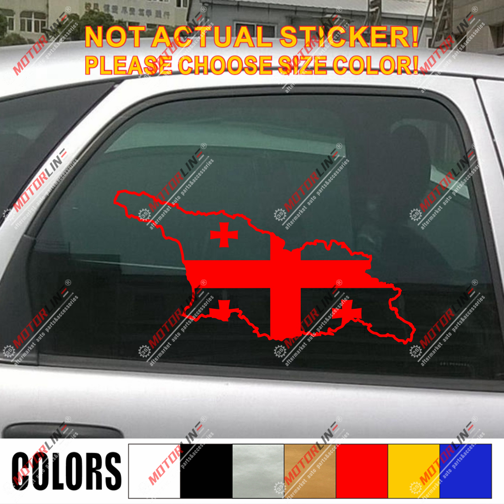 Switzerland Swiss Map Flag Car Sticker Red Vinyl Decal choose size 4/'/' 5/'/' 6