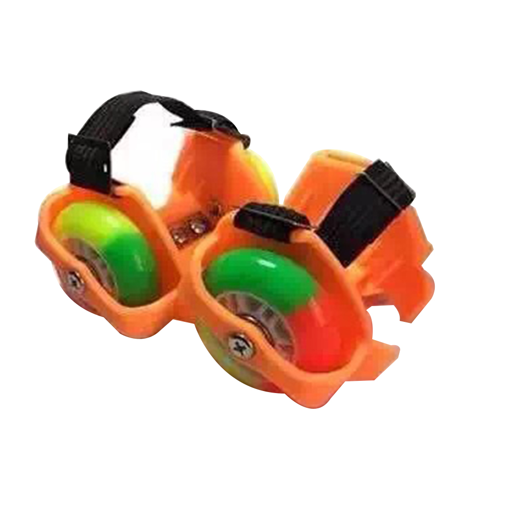 2PCS Funny Gift Toy Durable Heel Skate Rollers Kids PU Unisex Flashing Wheel Outdoor Shoes Adjustable