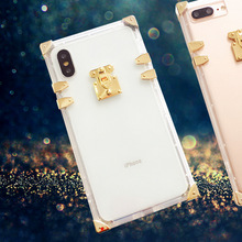 New IPhonex Mobile Case Transparent TPU Soft Anti-fingerprint Anti-fall Apple 7