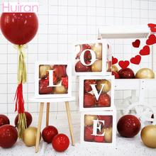 Huiran Transparent Balloon Storage Box For Wedding Party Bride To Be Paper Letters Carton Birthday Cardboard Baby Shower