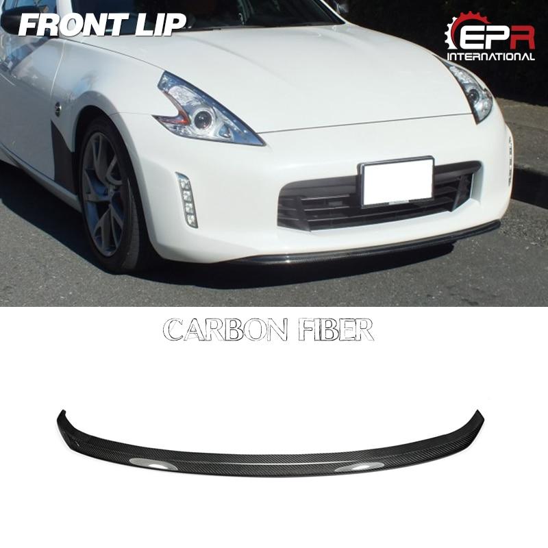 Carbon Fiber TK Front Bumper  Under Lip Kit For Nissan Z34 370Z Kouki Late Model