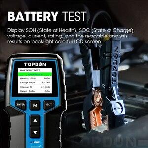 Image 5 - TOPDON BT200 12V Auto Batterie Tester Digitale Automotive Diagnostic Batterie Tester Analyzer Fahrzeug Ankurbeln Lade Scanner Tool