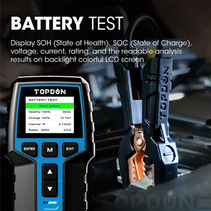Image 5 - TOPDON BT200 12V Car Battery Tester Digital Automotive Diagnostic Battery Tester Analyzer Vehicle Cranking Charging Scanner Tool