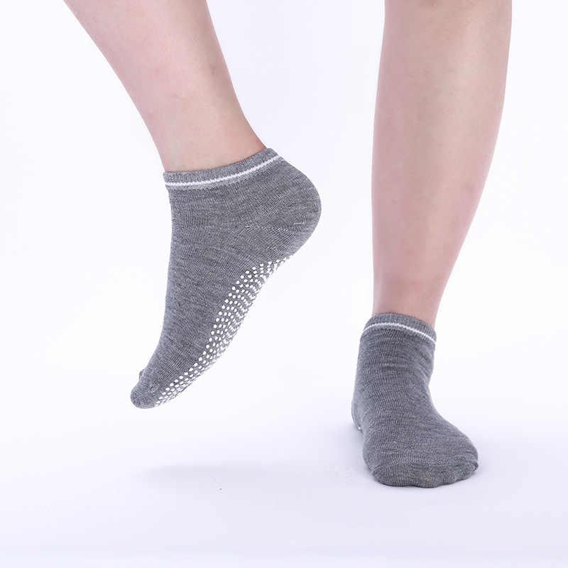 1 para kobiety joga skarpety Quick-Dry antypoślizgowe silikonowe siłownia Pilates skarpetki baletowe Fitness sportowe skarpetki bawełniane oddychająca elastyczność