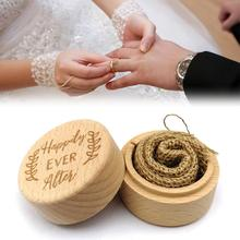 5x5x4cm Wood Ring Box Wedding/Valentines Engagement Wooden Bearer Rustic Wedding Holder No Engravings Bo