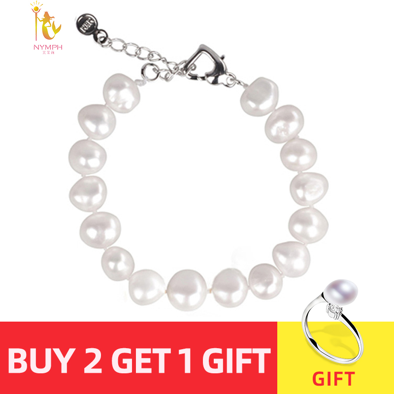 NYMPH pearl bracelets natural pearl jewelry baroque natural fresh water pearl bracelet for women S89 Innrech Market.com
