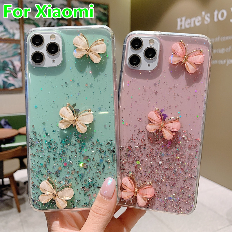 Cute Butterfly Phone Case For Xiaomi Redmi K20 Note 7 8 5 6 pro Soft Case For Mi A3 CC9 CC9E 9 8 SE Lite 6X A2 9TPro Phone Cover Half-wrapped Cases    - AliExpress