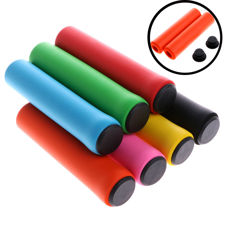 1Pair Bicycle Soft Foam Sponge Handlebar Grips Cover Outdoor Mountain Cycling bmx mtb Bike Silicone Grip Anti slip Handle Bar SD|Bicycle Grips| |  - title=