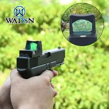 Aimo-mira telescópica táctica para rifle, mirilla pequeña RMR con punto rojo Glock, mira réflex para caza, compatible con Weaver, riel Picatinny, óptica Scope, AO1006