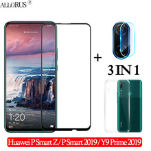 3-in-1 Case + Camera Tempered Glass Huawei-P-Smart-Z P Smart2019 Screen Protector Huawei Y9 Prime 2019 3D glass huawei p smart z