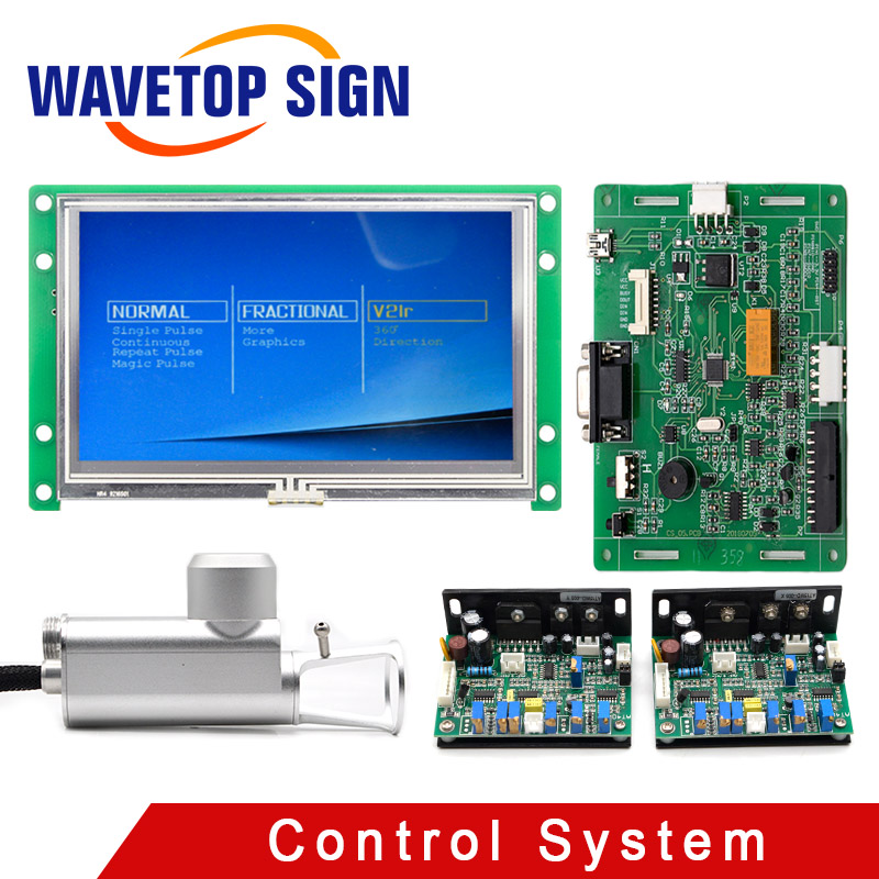WaveTopSign CO2 Lattice Laser Medical Handle + Scanning Galvanometer + Control Card + LCD Touch Screen 7inch Beauty Laser