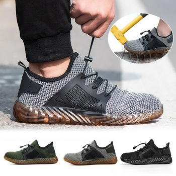 2020 Indestructible Work Safety Shoes Men Summer Breathable Boots Steel Toe Air Safety Boots Puncture-Proof Work Sneakers large size men casual comfort mesh steel toe cap work safety summer shoes puncture proof tooling security boots protect footwear