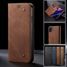 Luxury Denim Leather Flip Phone Case For Iphone 11 Pro Max X Xr Xs Max Magnetic Wallet Card Cover For Iphone 8 7 6 6s Plus Coque flip leather phone case for iphone 11 pro max 6 6s 7 8 plus x xs max xr mobile cover with magnetic card stand wallet phone case