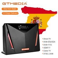 Gtmedia V8 UHD 4K UHD обновление бесплатно sat V9 super V8 nova series 4K поддержка 4G dongle Abertis новейший спутниковый декодер DVB