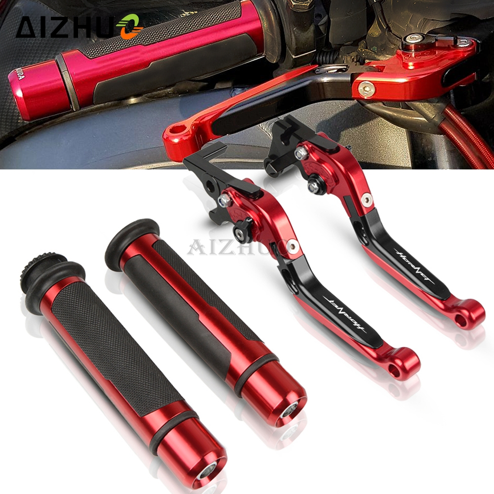Motorcycle Accessories CNC Brake Clutch Lever Handle Grips For Honda CB 599 CB <font><b>600</b></font> CB599 CB600F <font><b>HORNET</b></font> 1998-2006 2003 2004 <font><b>2005</b></font> image