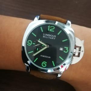 Image 2 - ファッション高級ブランドスポーツ腕時計メンズ防水クォーツ革軍事腕時計男性軍時計男性relojes hombre hodinky