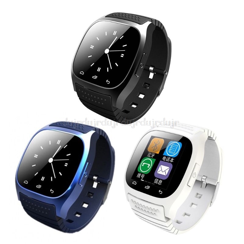 M26 Wrist Waterproof Bluetooth Smart Watch LED Display Music Player Pedometer Fitness Tracker Smartwatch D11 19 Dropship