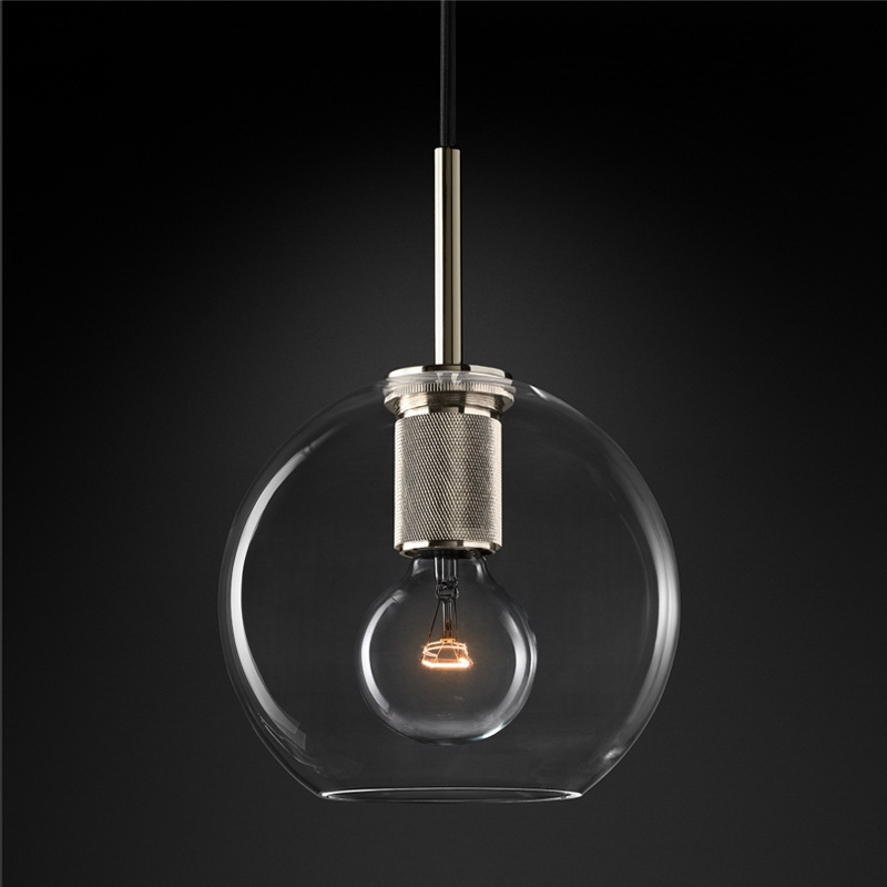 Luminaire Suspendu Deco Chambre Glass Ball Bedroom  Living Room  LED  Pendant Lights Lustre Pendente Hanging Lamp