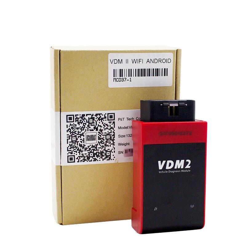 UCANDAS VDM Wifi V3.9 pełny układ skaner samochodowy OBD2 VDM2 narzędzie diagnostyczne czytnik kodów aktualizacja Online dla większości samochodów