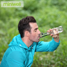 miniwell Lightweight Straw Filter Water Survival Kit For Travel and Sport