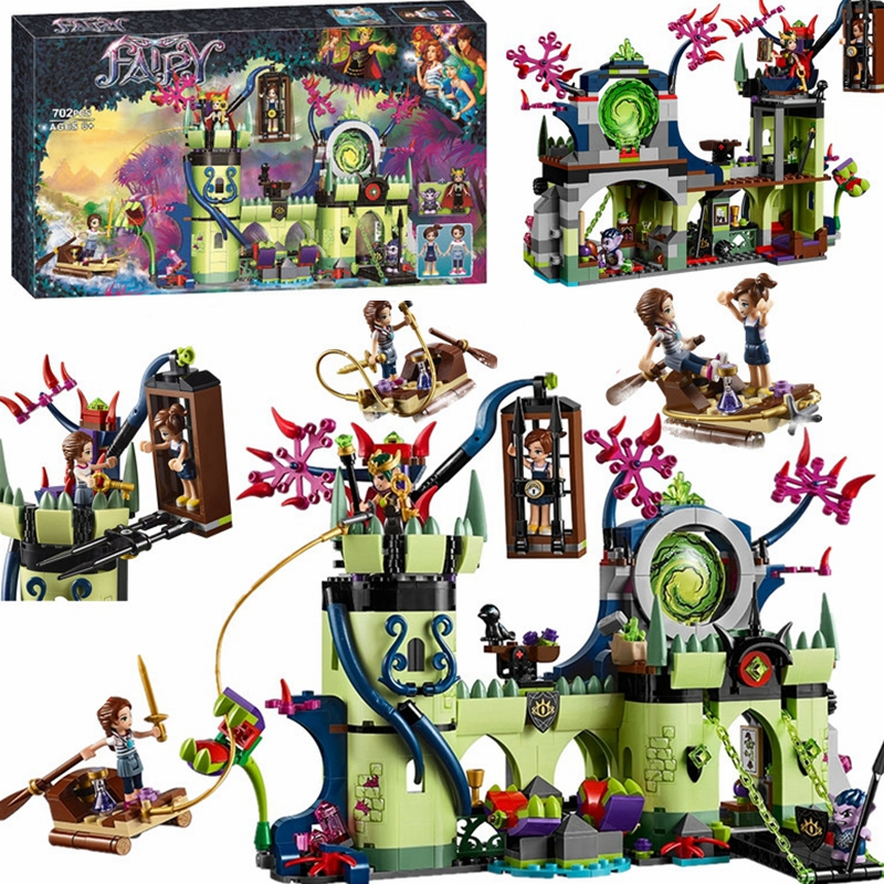 702pcs Elves Friends Breakout from the Goblin King Fortress Building Blocks Bricks Compatible 41188 Elves Friends Toys For Girl image