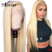 613 peluca rubia cabello humano pre arrancado Remy indio Remy 13x 4/13x6 del pelo humano del frente del cordón pelucas con minimechones nudos blanqueados