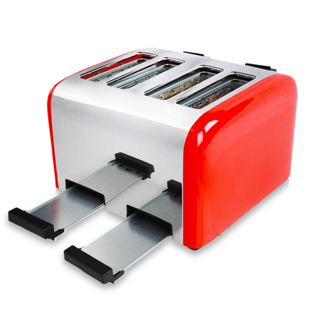 Commercial 4-slice Toaster Breakfast Machine Fully Automatic Toast Maker Household Bread Roasting Machine TR-2202 5