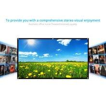 Docooler 120 ''écran de projecteur pliable HD 16:9 écran de Projection vidéo écran de Projection mural pour théâtre de maison en plein air