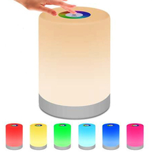 LED Night Light Portable Table Bedside Lamps Rechargeable Warm White Light and Color Changing RGB Smart Touch Colorful Lamp Gift cheap YMPUI Atmosphere Round CN(Origin) ROHS 20210009 Night Lights LITHIUM ION HOLIDAY 0-5W Indoor beside lamp RGB and warm white