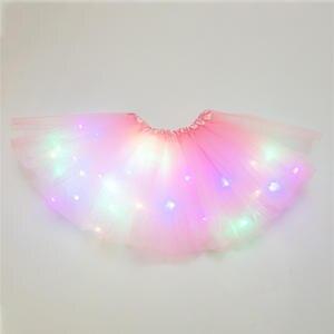 Tutu-Skirt Dancewear Magic-Light Party Fashion Sequin Princess Tulle Glitter-Ballet Stars
