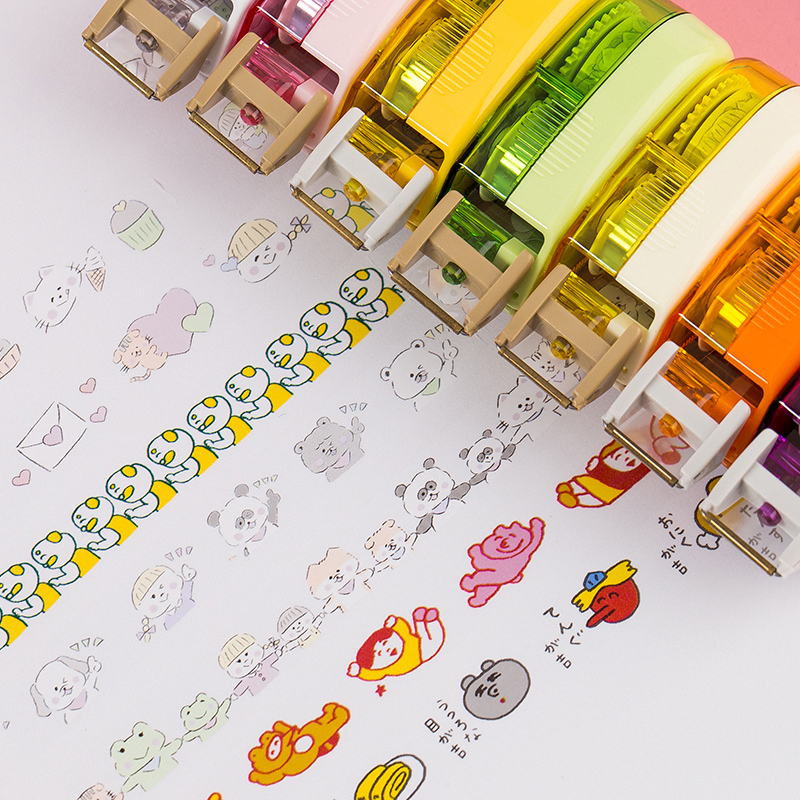 New Arrival Cartoon Press Decorative Correction Tape Kawaii Decoration Tape For Kids School Scrapbooking Diary Gift Sta