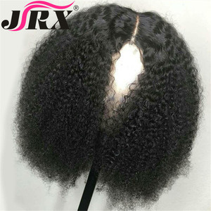 Image 2 - Afro Kinky Curly Wig 13x4 Lace Front Human Hair Wig High Ratio For Women Remy Hair Wig Human Hair Lace Front Wigs