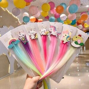 2020 Sweet Colorful Hairpin Lovely Children Girls Hairclip Kids Cute Barrette Cartoon Extension Braider Rainbow Hair Accessories