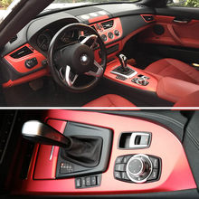 For BMW Z4 E89 2009-2016 Interior Central Control Panel Door Handle 3D/5D Carbon Fiber Stickers Decals Car styling Accessorie
