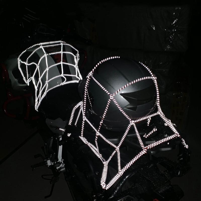 40x40cm Reflection Motorcycle Cargo Net Motorcycle ATV Luggage storage organizer Net|Motorcycle Luggage Net| |  - title=